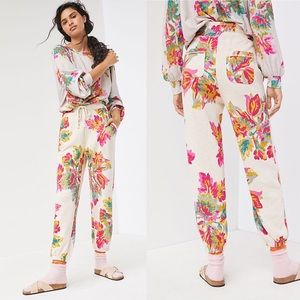 NWT Anthropologie Camilla Floral Jogger Sweatpants